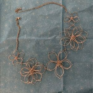 Torrid gold flower necklace